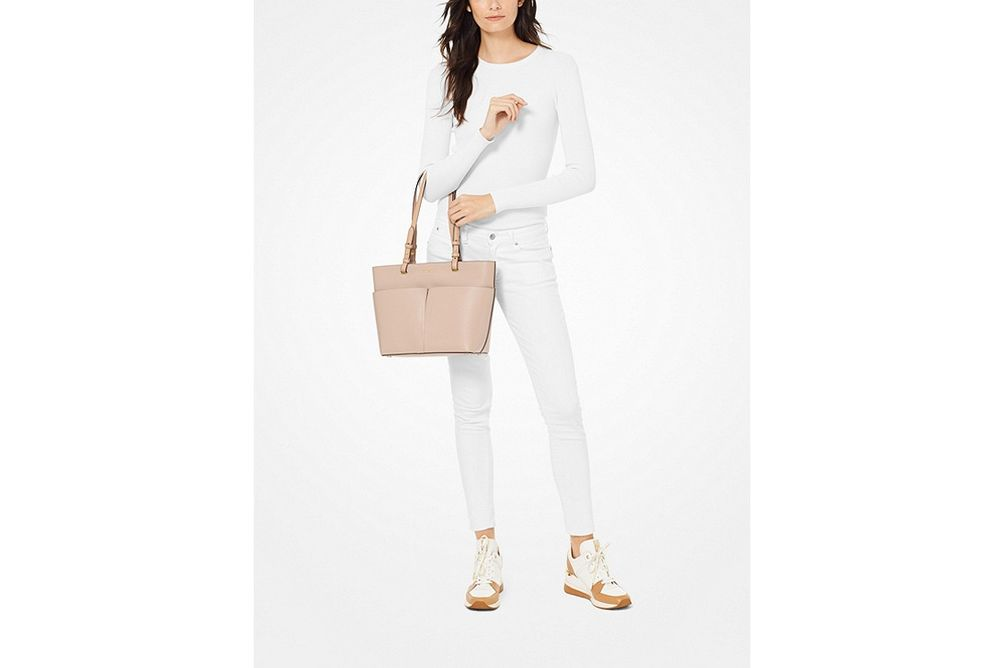 Michael Kors Bedford Medium Soft Pink Tote- Size Image