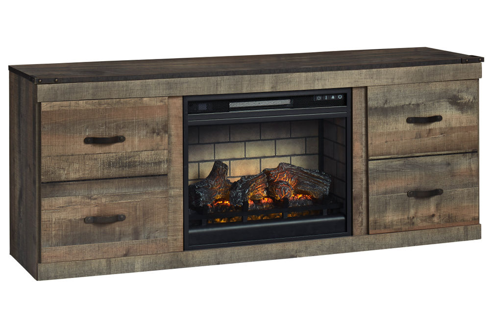 Signature Design by Ashley Trinell 60 Inch Electric Fireplace TV Stand