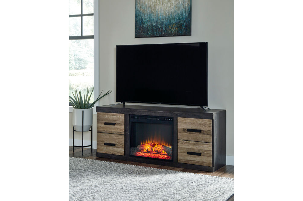 Signature Design by Ashley Harlinton 60 Inch Electric Fireplace TV Stand - Room View