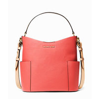 Michael Kors Bedford Medium Bucket Shoulder Bag- Pink Grapefruit