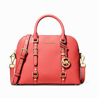 Michael Kors Bedford Legacy Dome Satchel- Sunset Peach