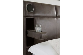 Signature Design by Ashley Mirlenz Queen Storage Bed- Speakers and Armrests
