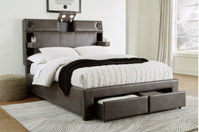Signature Design by Ashley Mirlenz King Storage Bed- Features