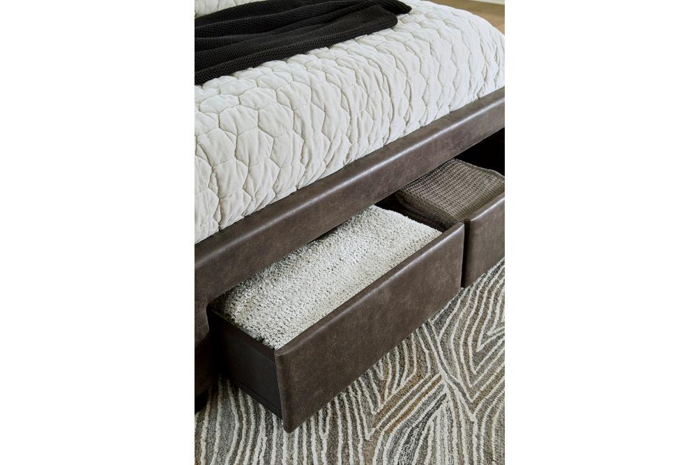 Signature Design by Ashley Mirlenz King Storage Bed- Storage
