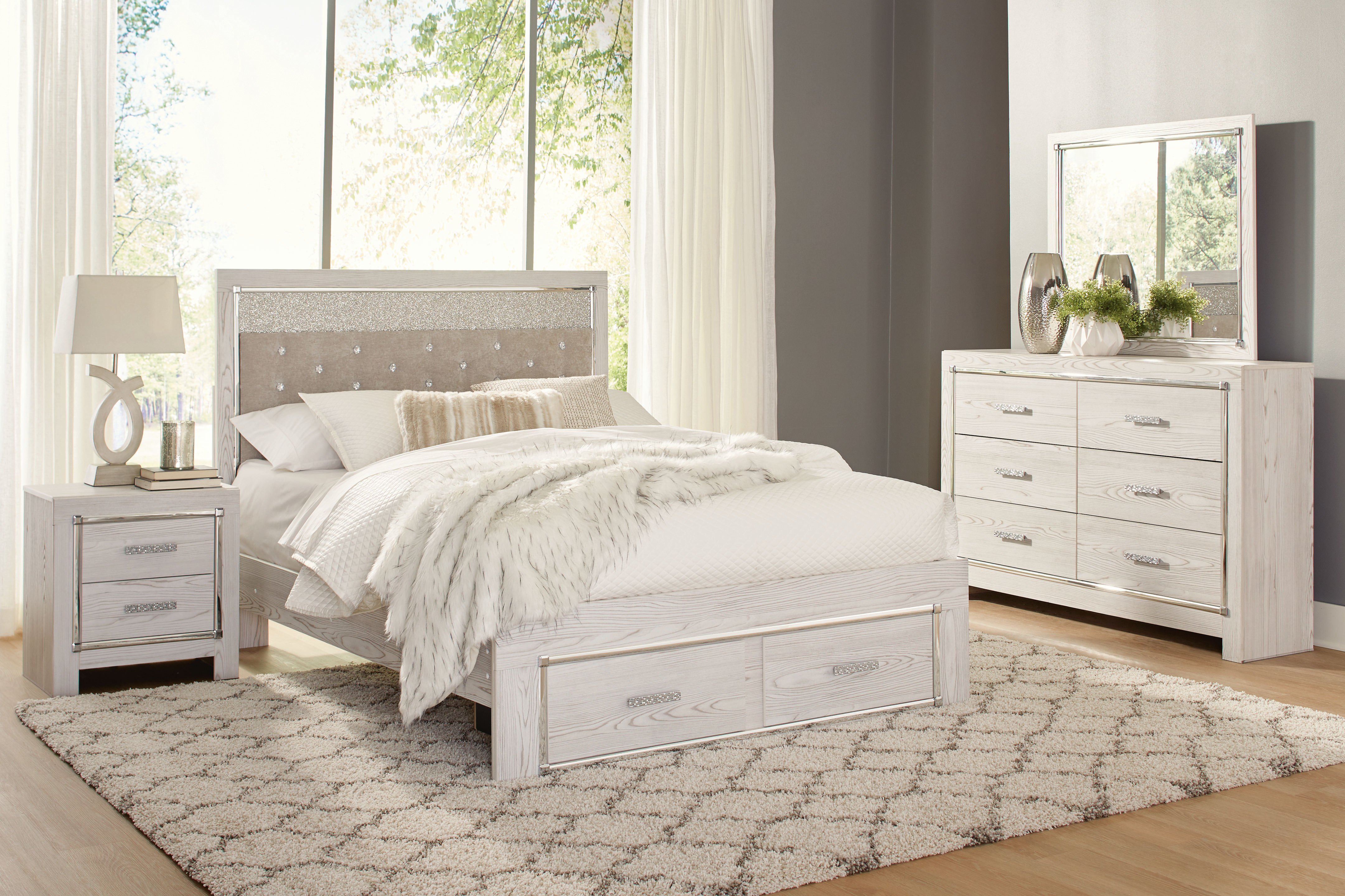 Rent Signature Design By Ashley Altyra 6 Piece Queen Bedroom Set Same Day Delivery At Rent A Center