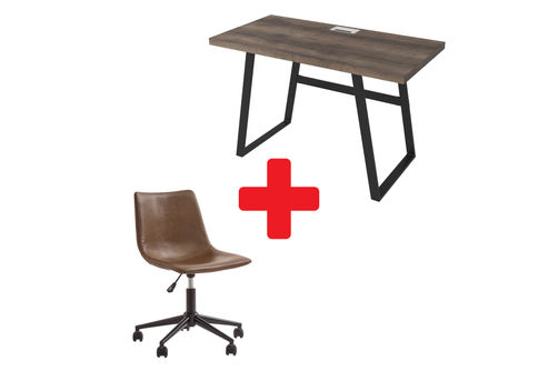 Signature Design by Ashley Arlenbry Home Office Desk and Swivel Chair