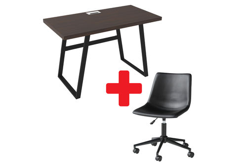 Signature Design by Ashley Camiburg Home Office Desk with Swivel Chair