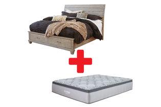 Benchcraft Naydell Queen Bed and Mattress Bundle