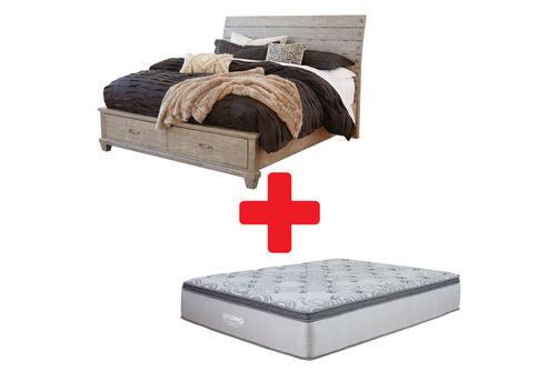 Benchcraft Naydell Queen Bed and Mattress Bundle