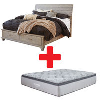 Benchcraft Naydell King Bed and Mattress Bundle