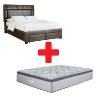 Signature Design by Ashley Mirlenz Queen Storage Bed and Mattress Bundle