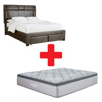 Signature Design by Ashley Mirlenz King Storage Bed and Mattress Bundle