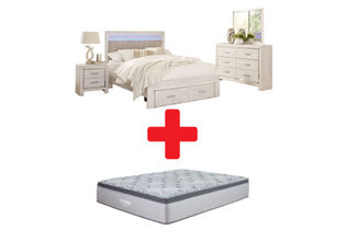 Signature Design by Ashley Altyra Queen Bedroom Set and Mattress Bundle