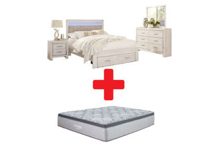Signature Design by Ashley Altyra King Bedroom Set and Mattress Bundle