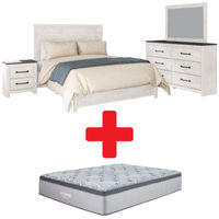 Signature Design by Ashley Gerridan Queen Bedroom Set and Mattress Bundle