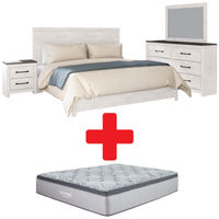 Signature Design by Ashley Gerridan King Bedroom Set and Mattress Bundle