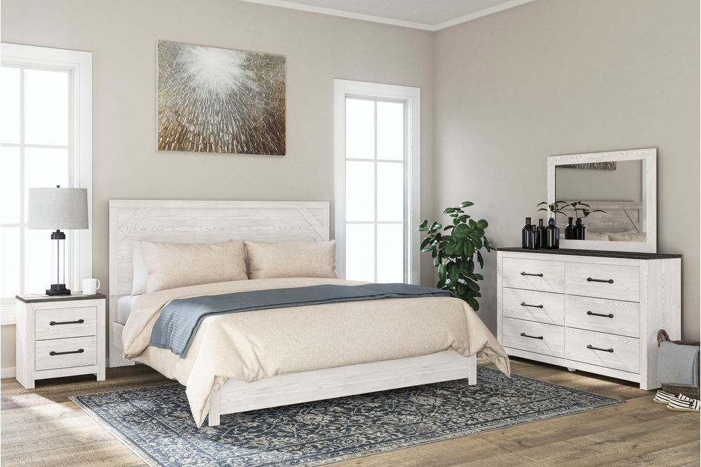 Signature Design by Ashley Gerridan 6-Piece King Bedroom Set - Room View