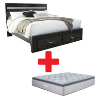 Signature Design by Ashley Starberry King Bed and Mattress Bundle