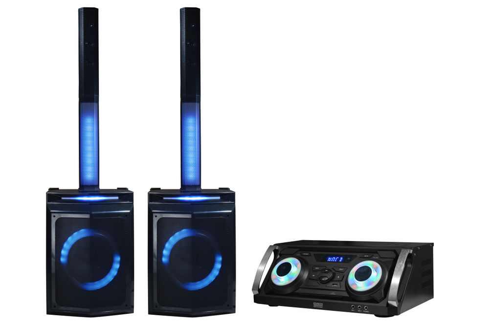 Edison Professional Bluetooth Karaoke Party Sound System - Alternate View