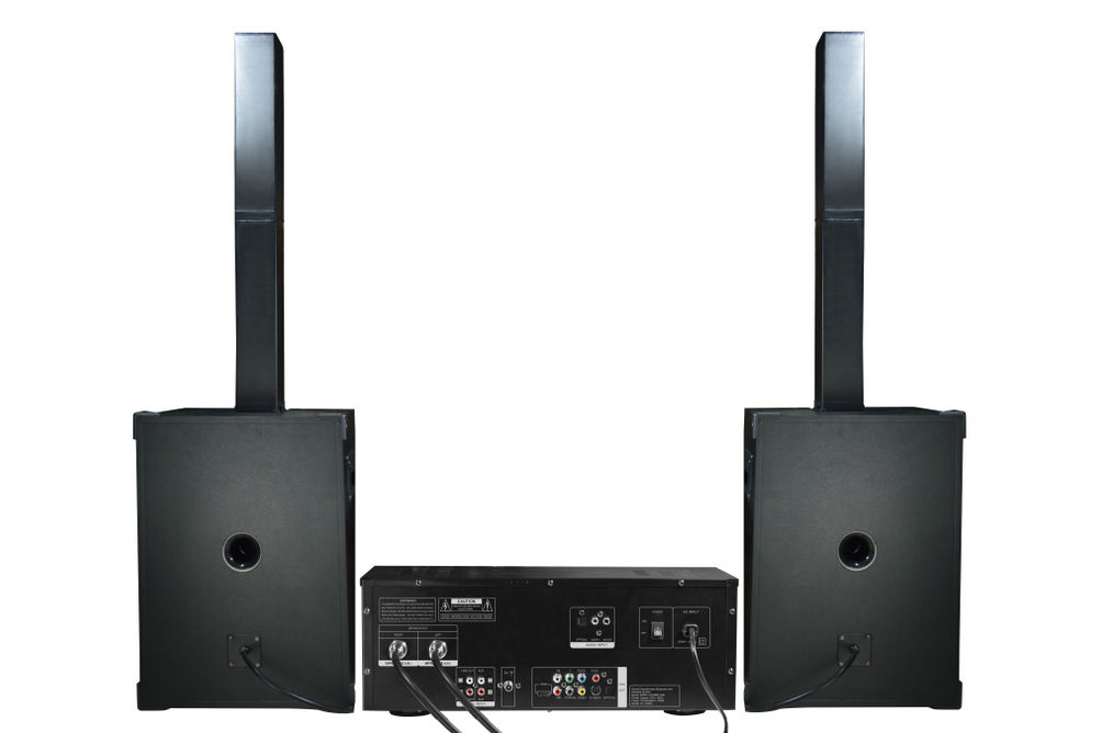Edison Professional Bluetooth Karaoke Party Sound System - Back View