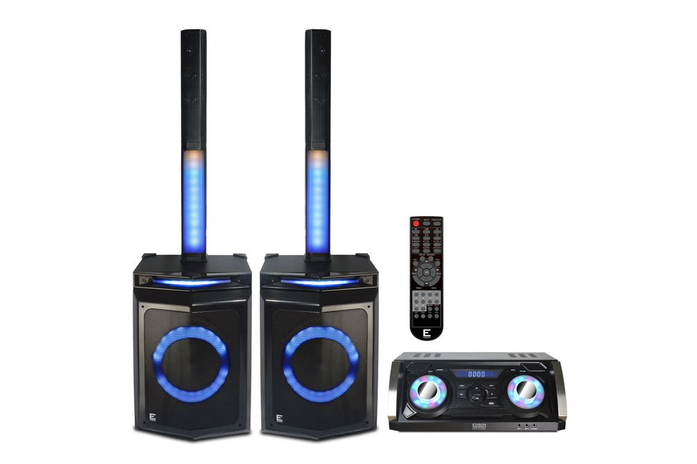 Edison Professional Bluetooth Karaoke Party Sound System - Light Features