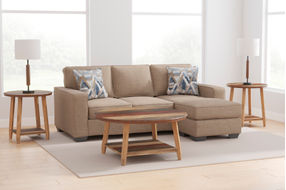 Signature Design by Ashley Greaves-Driftwood Sofa Chaise - Room View