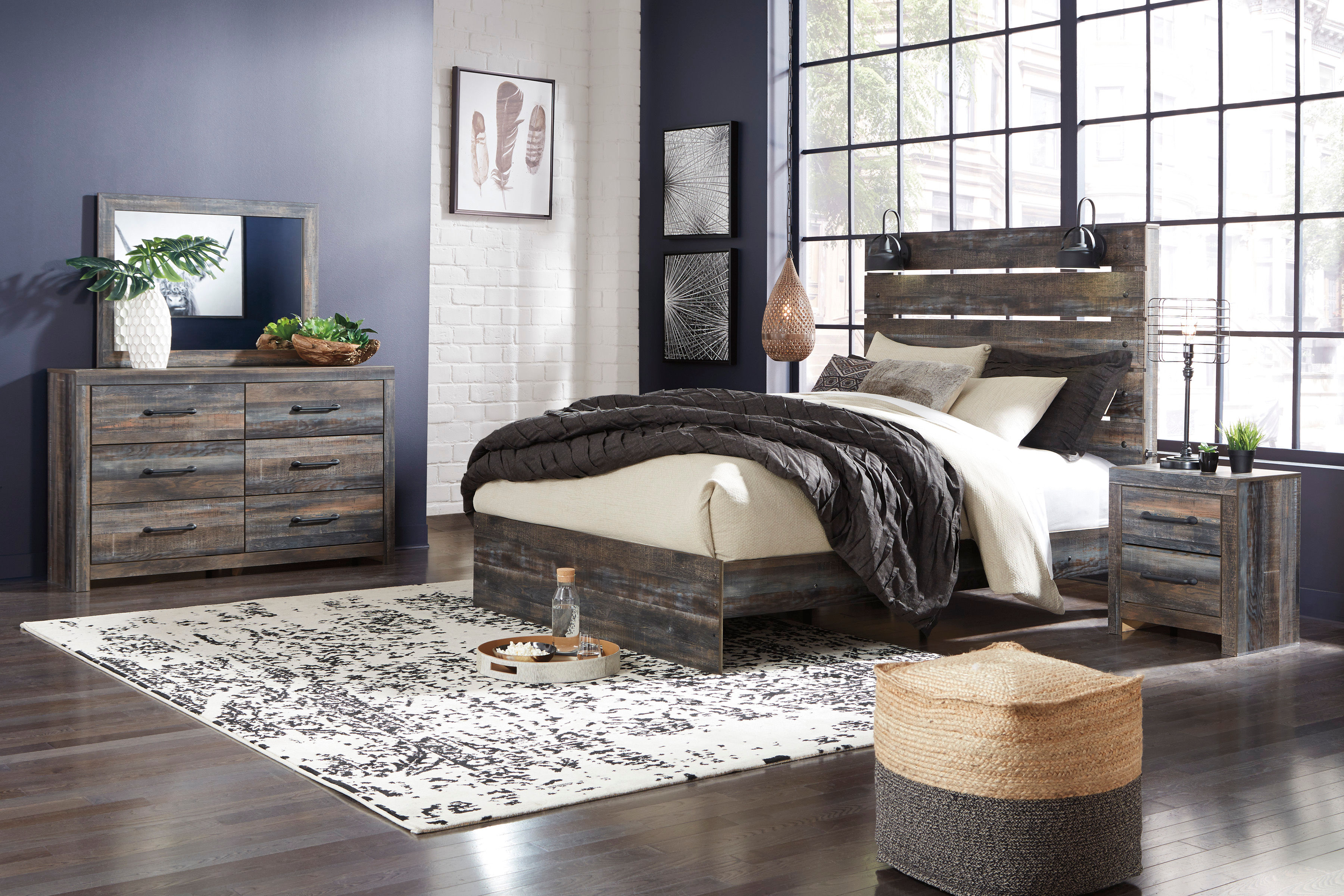 Rent Signature Design By Ashley Drystan 6 Piece Queen Bedroom Set Same Day Delivery At Rent A Center
