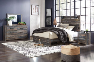 Signature Design by Ashley Drystan 6-Piece Queen Bedroom Set- Room View