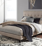 Signature Design by Ashley Adelloni Queen Tufted Upholstered Bed - Light Brown - Sample Room View