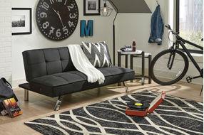 Signature Design by Ashley Santini-Black Flip Flop Sofa Bed - Room View