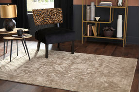 Signature Design by Ashley Kanella Gold Indoor Accent Rug - Sample Room View
