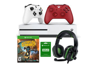 Microsoft Xbox One S 1TB Game Console Destroy All Humans Game Mega Bundle