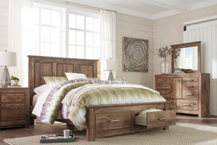 Signature Design by Ashley Blaneville 7-Piece Queen Bedroom Set - Room View