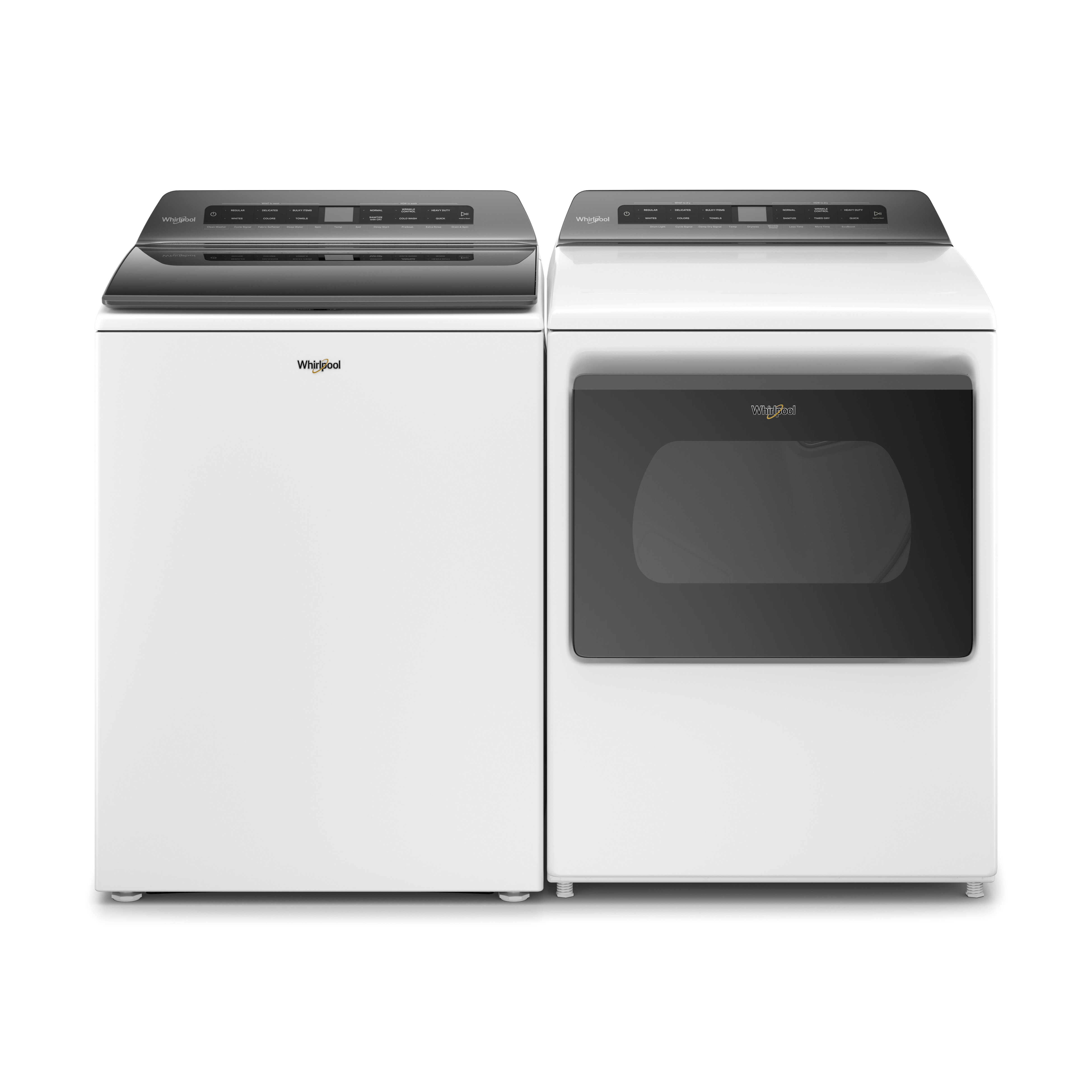 Whirlpool 4.7 Cu.Ft. Top Load Washer and 7.4 Cu. Ft. Electric Dryer