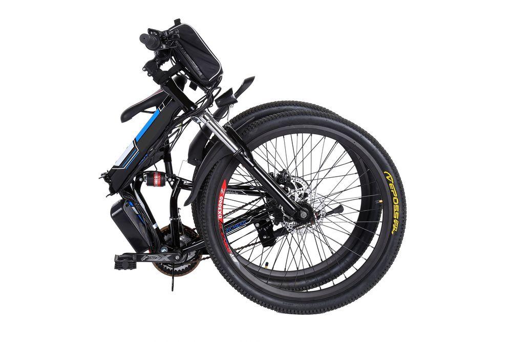 Ancheer 26 inch Wheel Folding Electric Mountain Bike - Wheel Folding Feature