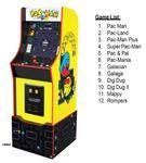 Arcade1Up Bandai Pac-Man Legacy Edition Arcade Game List