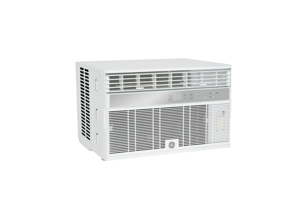 GE 12,000 BTU Window Unit Air Conditioner - Side Angle View