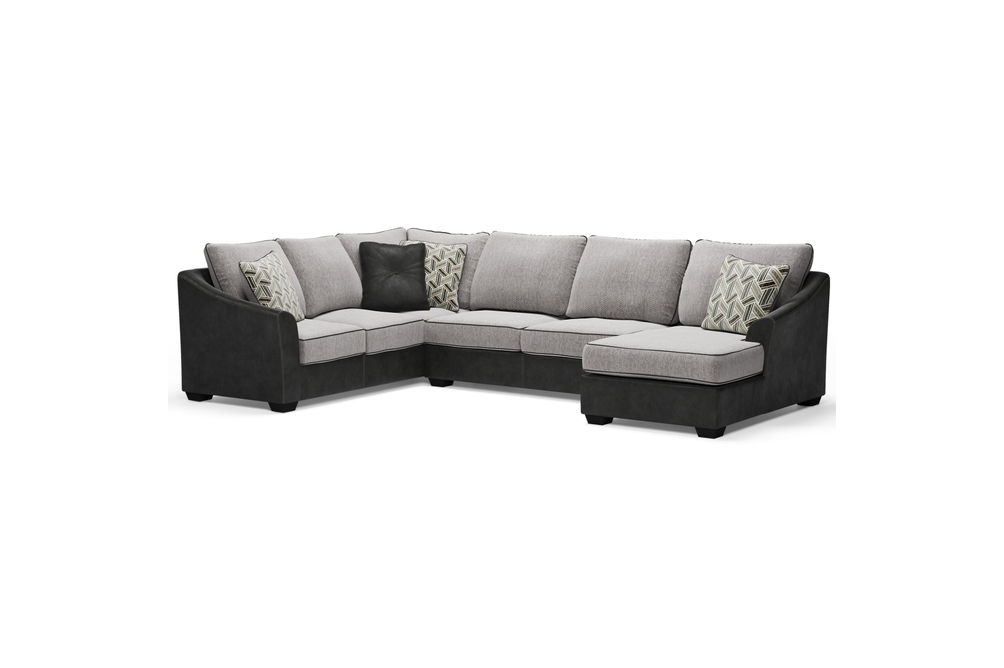 Signature Design by Ashley Bilgray-Pewter 3-Piece Sectional