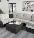 Signature Design by Ashley Bilgray-Pewter 3-Piece Sectional - Sample Room View