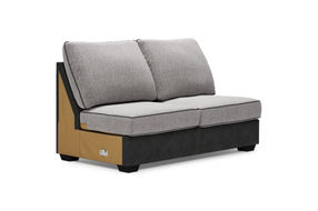 Signature Design by Ashley Bilgray-Pewter 3-Piece Sectional - Armless Loveseat