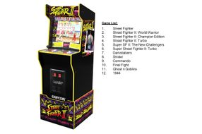 Arcade1Up Capcom Legacy Street Fighter II Arcade Game - 12 Games List