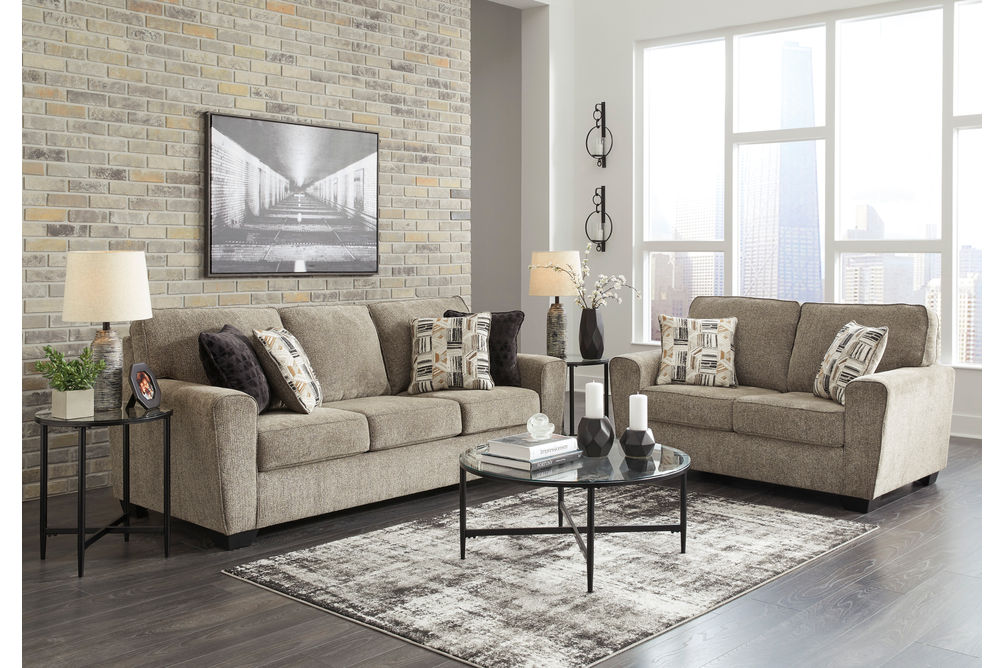 Benchcraft McCluer-Mocha Sofa and Loveseat - Room View