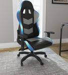 Signature Design by Ashley Lynxtyn Black LED Swivel Home Office Desk Chair - LED Feature