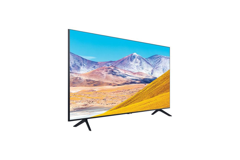 Samsung 55 inch 4K UHD LED Smart TV UN55TU8000FXZA - Side Angle View