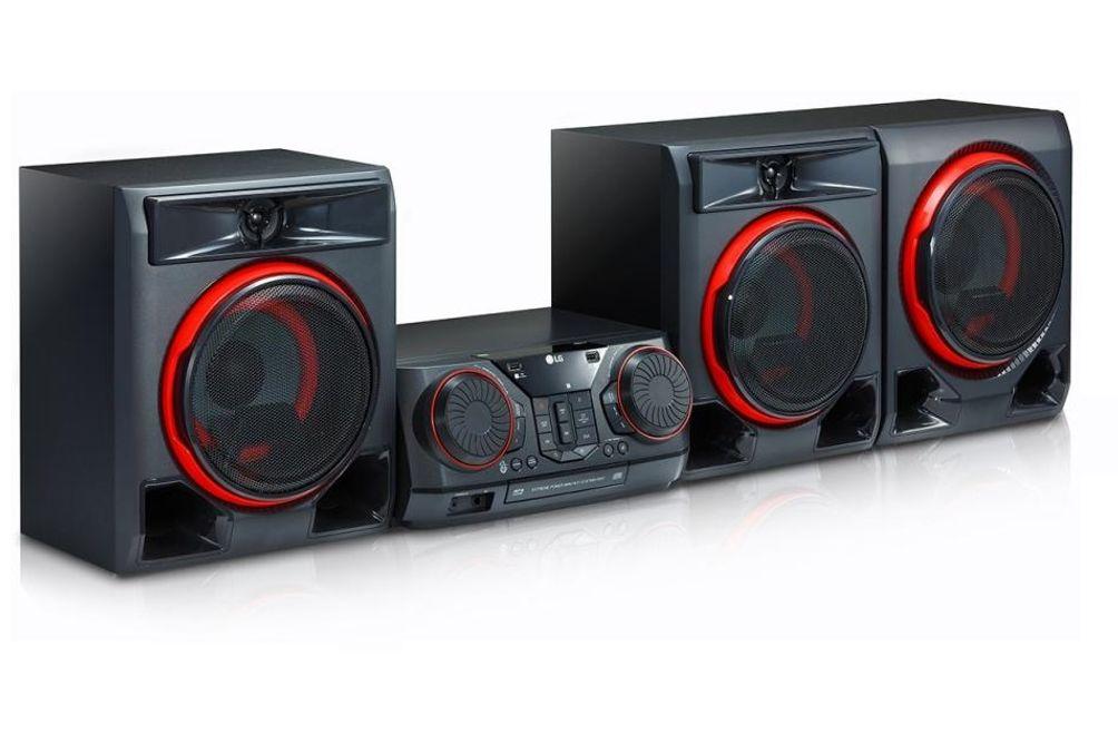 LG 1100W Hi-Fi Shelf Speaker System - Side Angle View