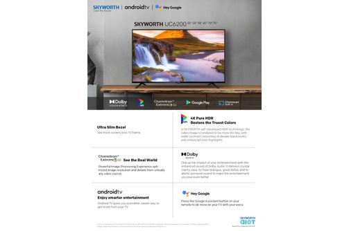 Skyworth 58 inch 4K UHD LED Smart TV 58UC6200 - Features