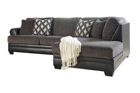 Benchcraft Kumasi-Smoke Sofa Sectional with Chaise