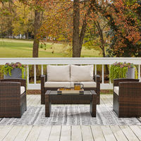 Signature Design by Ashley East Brook 4-Piece Outdoor Furniture Set - Outdoor View