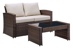 Signature Design by Ashley East Brook 4-Piece Outdoor Furniture Set - Loveseat and Table