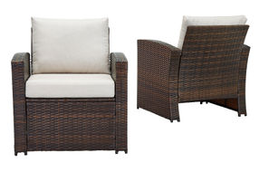 Signature Design by Ashley East Brook 4-Piece Outdoor Furniture Set - Chairs Front and Back View